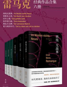 雷马克经典作品合集六册 西线无战事、里斯本之夜、应许之地、伙伴进行曲、黑色方尖碑、爱与死的年代